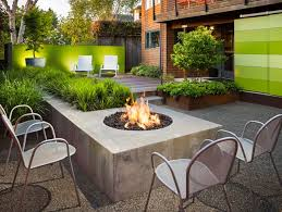 small garden fire pit modern garden scot eckley inc seattle wa