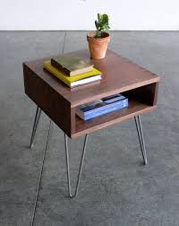 awesome mid century modern inspired side table prefer the wood to be in mid century modern end tables plan