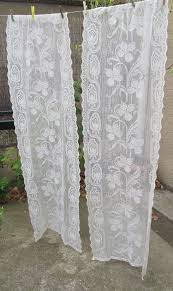 ecru vintage lace curtains cream french curtains lace curtain panels