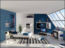 ... Awesome Interior Design Ideas For Cheap Kids Room Decor : Fabulous Blue  Wall Painting Interior Design ...