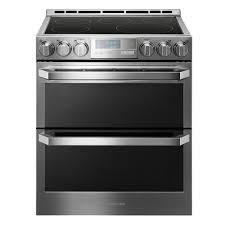 side by side double oven electric range. Brilliant Oven 73 Cu Ft Double Oven Smart Slidein Electric Range  In Side By