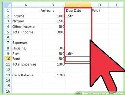 How To Make A Budget Spreadsheet In Excel Make A Personal Budget On ...