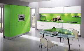 Lime Green Kitchen Walls Kitchen Modern House With Glass Walls And Lime Green Cabinet Set