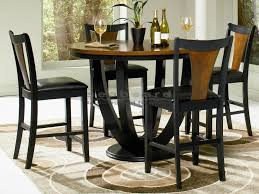 round pub table and chairs 10 dining room piece bar height set amp tables at regarding