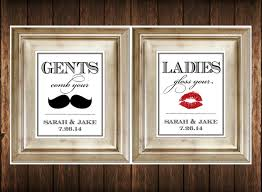 Bathrooms Signs For Inspirations Wedding Bathroom Basket By ...