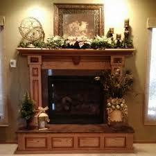 magnificent wood fireplace mantels plans nearby small artificial trees and small metal candle lanterns under