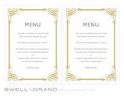 pages menu template bunch ideas of printable wedding menu template instant classic in