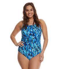 Waterpro Womens Plus Size Marina Fit Back Moderate One Piece Swimsuit