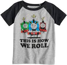 Toddler Boys 2t 5t Thomas Friends This Is How We Roll Percy Thomas James Raglan Tee