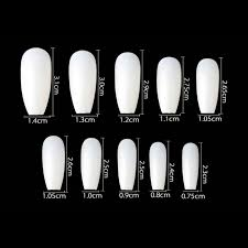 500pcs Bag Ballerina Nail Art Tips Clear Natural False