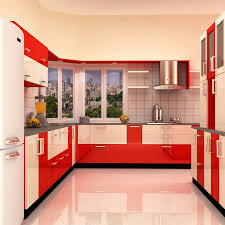 Modular Kitchen Interiors Classy Sleek Modular Kitchen Interior And Hardware Cherpulassery