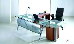 office glass desk. Office Table Glass Top Desk . T