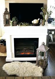 fireplace mantel with tv above