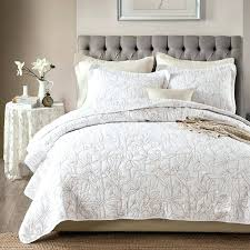 Solid Color Quilts – co-nnect.me & ... Chausub White Coverlet Solid Color Quilt Set 3pcs Washed Cotton Quilts  Embroidered Bedspread Bed Cover Sheets ... Adamdwight.com