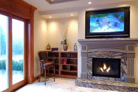 image of mounting tv above fireplace sets
