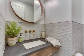 awesome how to remove mirror from bathroom wall on bathroom wall mounted mirrors lovely powder room half bath 3d tile