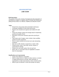 Line Cook Job Description Template Sample Form Biztree Com