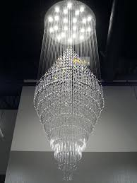 large chandelier lighting large chandeliers for foyer elegant duplex building stair crystal chandelier villa ping mall