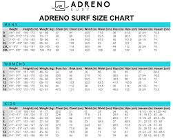 Billabong Size Chart Uk Size Guides Wetsuit Warehouse