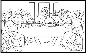 The Last Supper Coloring Page - glum.me