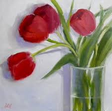 85 red tulips