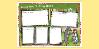 Free Little Red Riding Hood Story Review Writing Frame