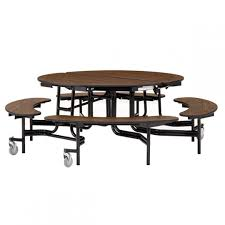 round mobile bench cafeteria table 60 dia