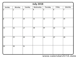 printable monthly blank calendar calendar of july 2018 printable monthly template free june 2018
