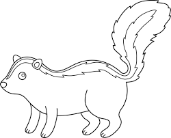 Small Picture Cute Skunk Line Art Free Clip Art