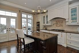 Kitchens With Dark Granite Countertops Dark Brown Laminated Wooden Cabinet Elegant Custom Design Come