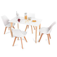 get ations giantex 5 pieces dining table set w 4 chairs home dining room kitchen waiting room