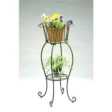 tall metal plant stand stands round wave planter the deer park outdoor