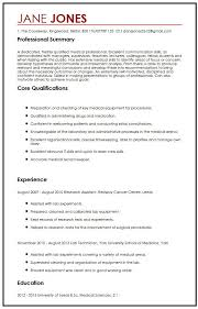 cv sample cv sample for medical students myperfectcv