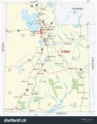 utah national park map stock vector   shutterstock