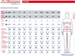 Kappa Size Chart Kappa W Banda Asber Crop Jacket
