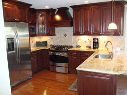 kitchen cabinet countertop color combinations cool model floor and single sink with yellow lamp decor dark