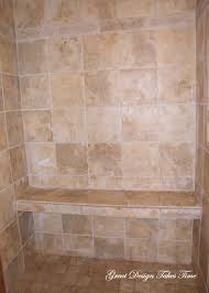 Gorgeous Bathrooms Designs With Shower Bench Seat Ideas : Classy Design  Ideas Using Rectangular Brown Tile