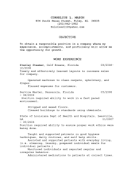 Environmental Service Aide Resume Free Resume Example And