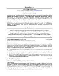 resume maintenance supervisor