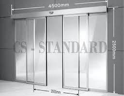 sliding door sizes standard glass sliding door measurements