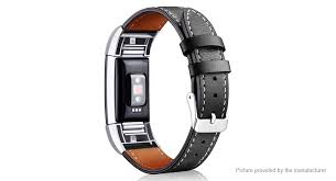 product image replacement leather watch band strap for fitbit