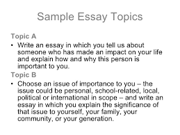 topics for essays for college co topics