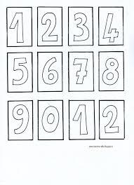 Numeri Da Stampare Per Bambini