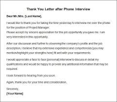 Thank You Letter After Phone Interview Worthy Picture Email 3