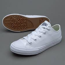 all star shoes for girls blue. converse chuck taylor all star ii ox (girls) white shoes - girls trainers outlet for blue