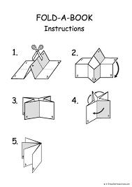 Editable Foldable Templates Printable And Editable Folding Book Template