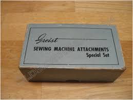 Greist Sewing Machine Attachments Manual