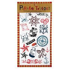 пиратские татуировки временные пиратская вечеринка Ahoy There