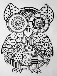 Small Picture 10 Pics Of Extreme Coloring Pages Owls Mosaic Patterns Coloring