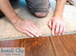 install clip for transition strip diy carpet laminateflooring flooring homeimprovement